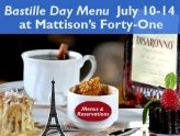 Bastille Day Special Dinner Menu at Mattison�s Forty-One