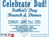 Celebrate Father�s Day at Pier 22 with a Complimentary Draft Beer or Bloody Mary for Dad!